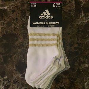 NWT Adidas Women's Superlite Compression Socks
